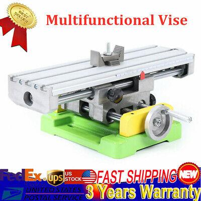 Mini Cross Slide Bench Drill Vise Fixture Work Table Cnc Milling Machine New
