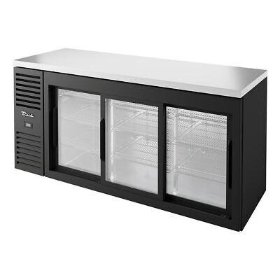 True Tbr72-risz1-l-b-111-1 72 Bar Refrigerator - Sliding Glass Doors. 115v