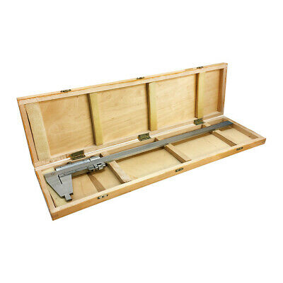12 300mm Inch Metric Heavy Duty Vernier Caliper Ruler Wooden Case