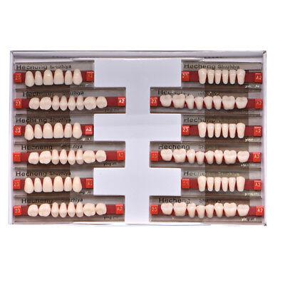 84pcs 3sets Dental Acrylic Resin Denture Full Set 23 A2 Teeth Upper Lower Shade
