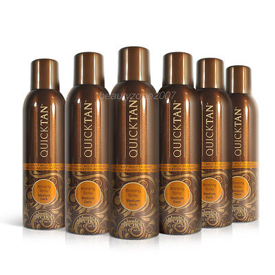 6 Bottles Body Drench Quicktan Quick Tan Bronzing Spray Medi