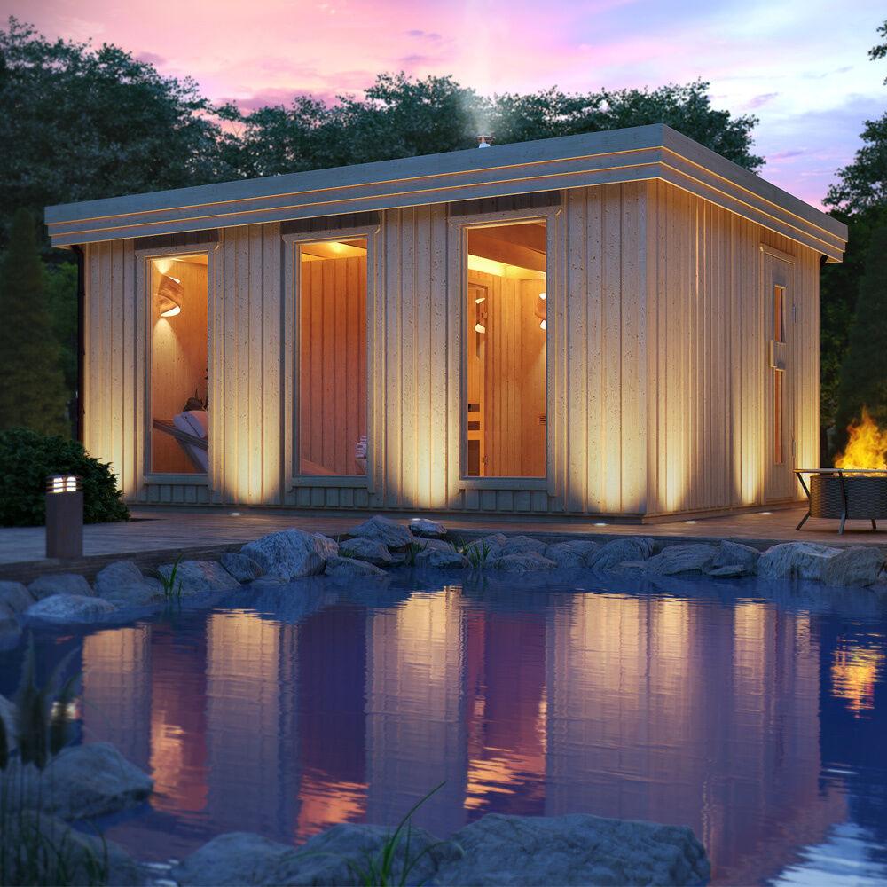 gartensauna fides von isidor outdoor sauna mit 6 m. Black Bedroom Furniture Sets. Home Design Ideas