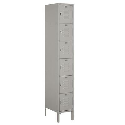 Salsbury 6-Feet High 6-Tier Box Style Standard Metal Locker, Gray 66168GY-U New