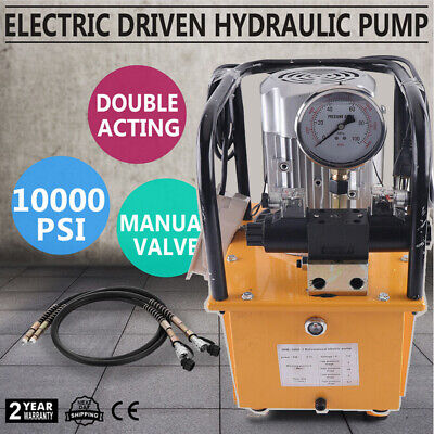 Electric Driven Hydraulic Pump 10000psi Double Acting Manual Valve 1400rmin