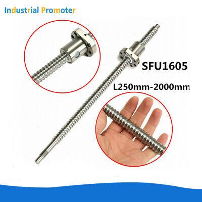 Ball Screw Sfu1605 Rm1605 L2502000mm Ballscrew End Machined Single Ballnut Cnc