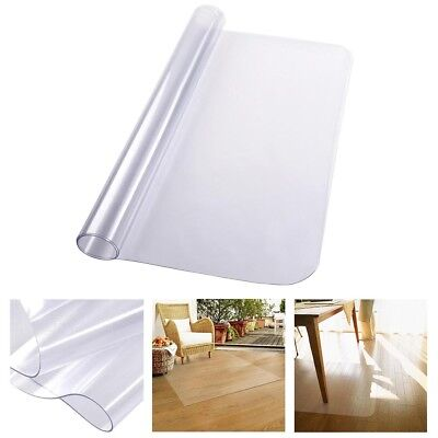 "48"" x 36"" Rectangle PVC Carpet Protector Mat for Hard Wood Floor Office Chair"