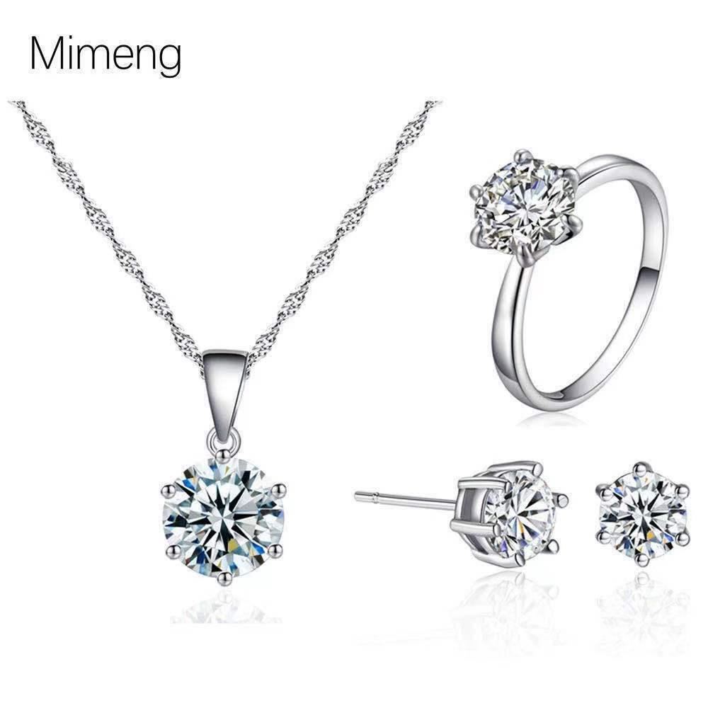 Jewellery - Xmas Sterling Silver Snowflake Pendant Necklace Stud Earring Womens Jewellery UK