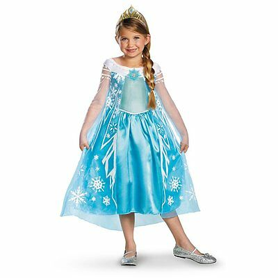 Frozen Clearance (New Frozen Elsa Girls Deluxe Costume by Disguise CLEARANCE 56998)