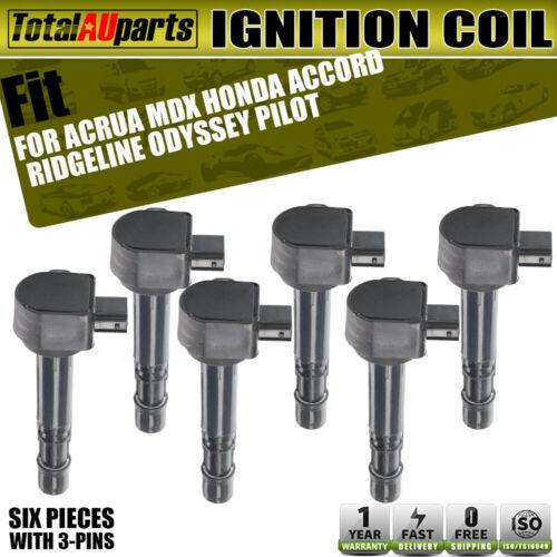6x Ignition Coils For Honda Accord Ridgeline Pilot Odyssey