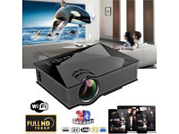 BRAND NEW,UC46 LED HD Projector Home Cinema Theater Airplay 1080P WiFi HDMI VGA USB 3D