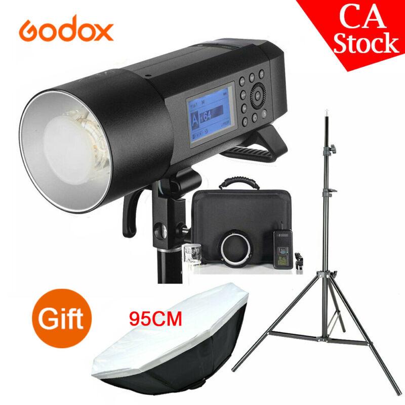 Godox AD400Pro 2.4G TTL HSS Outdoor Flash + 95cm Bowens Softbox + 2M Light Stand