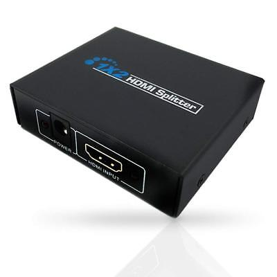 Viecam HDMI Splitter 1X2   2 Port Hub Repeater Amplifier 3D 1080p 1 In 2 Out NEW