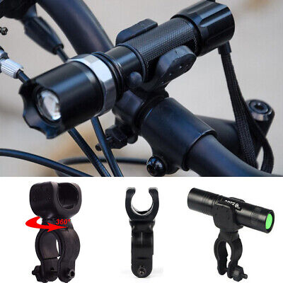 360 Degree Led Flashlight - 360 Degree Cycling Bicycle Bike Mount Holder for LED Flashlight Torch Clip Clamp