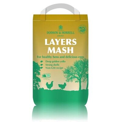 20KG - Dodson & Horrell Layers Mash Feed - Chicken Hen Duck Bantam Poultry Food