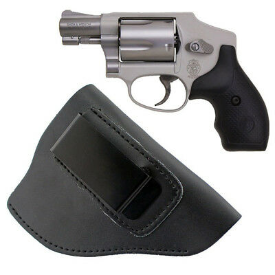 - IWB Leather Holster Right Hand Gun Holder Case for 38 Special Revolver Ruger LCR