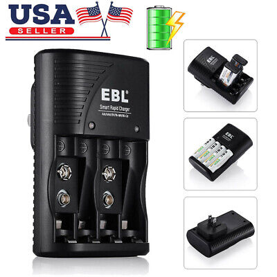 - EBL Rapid Smart Charger for 9V AA AAA NiMH NiCD Rechargeable Battery ( 3 in 1 )