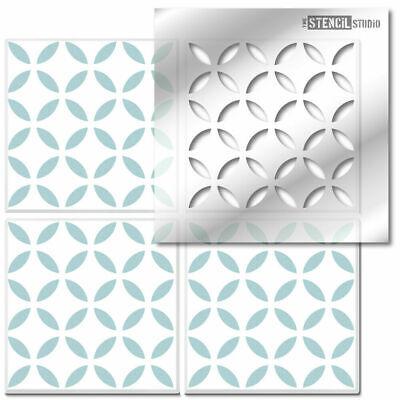Calcot Reusable Tile STENCIL. Paint Floors & Walls. Home Decorating DIY 10625