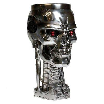 Terminator 2 Head Goblet Mug Cup Fantasy Collectible Science Skull Skeleton