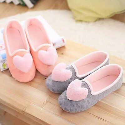 Women Warm Winter Heart Shape Soft Indoor Home Slippers Lady Pregnant Yoga Shoes