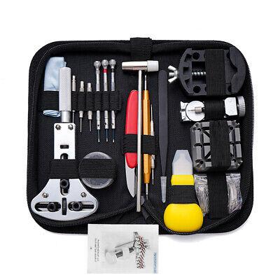 151PCS Watch Repair Tool Kit Case Opener Link Spring Bar Remover Watchmaker Tool