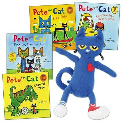 Pete The Cat Doll (Pete the Cat Doll and 4 Paperback Book)