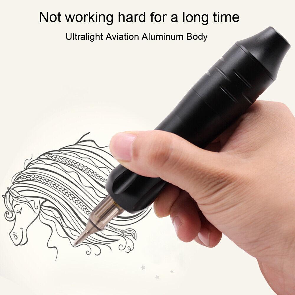 как выглядит New Arrival Tattoo Rotary Pen Strong Motor Wireless Tattoo Machine Power Supply фото
