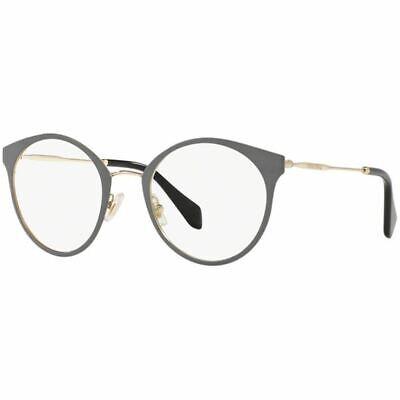 Authentic Miu Miu Round Women's Eyeglasses Pale Gold/Grey w/Demo MU51PV (Miu Miu Round Glasses)