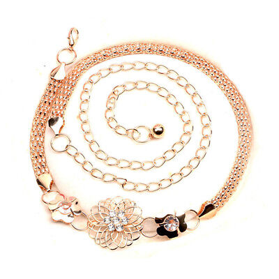 Gold Lady Women Statement Elegant Belts Body Chain Fashion Jewelry Waistband, used for sale  Shipping to Canada