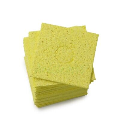 100pcs Thicken Soldering Iron Tip Cleaning Sponge Welding Cleaner Pads 5555mm
