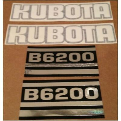 Kb6200 Hood Decal Set Fits Kubota Compact Tractor Model B6200