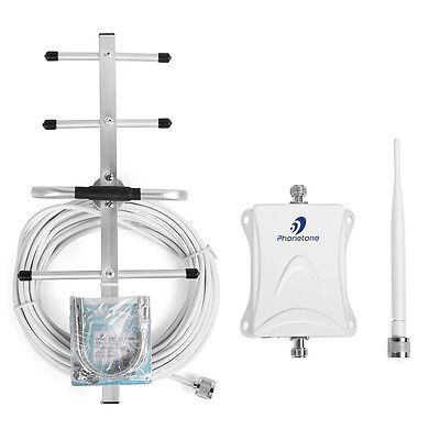 AT&T 4G LTE 700MHz 70dB Cell Mobile Booster Amplifier Repeater+Yagi Aerial