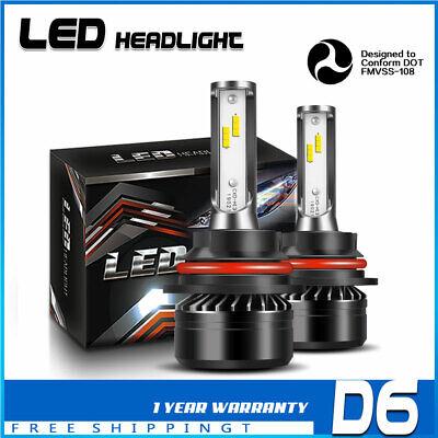 LED Headlight Kit 9004 HB1 White 6K Hi/Low Bulb for NISSAN Xterra 2000-2002 DTA