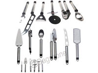12 Piece Stainless Steel Kitchen Cooking Utensil Set Gadget Hanging Rack Holder