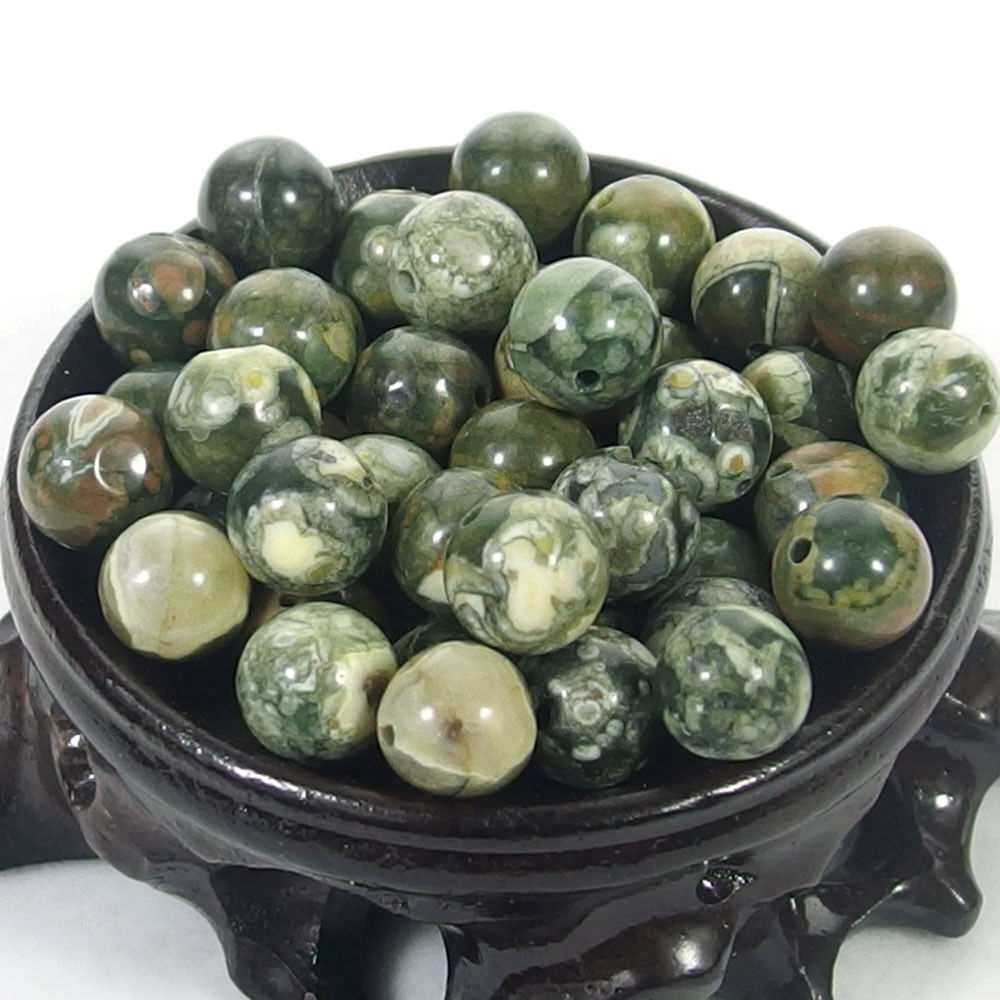 Bulk Gemstones I natural spacer stone beads 4mm 6mm 8mm 10mm 12mm jewelry design peacock jasper