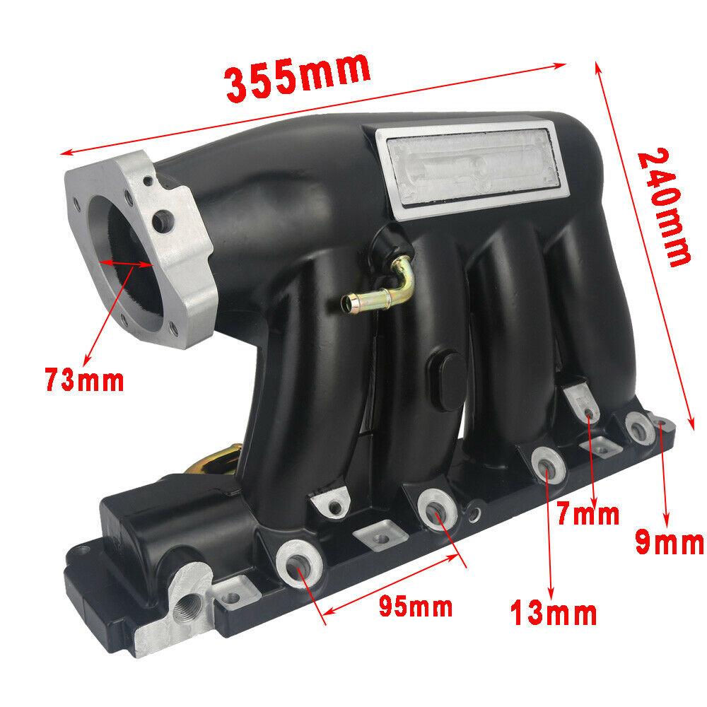 Black Intake Manifold Fits 04-08 Acura TSX Base K24A2 06