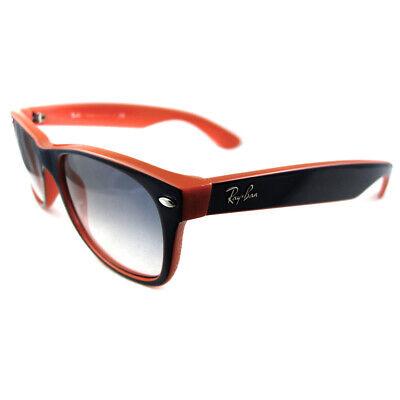 Ray-Ban Sonnenbrille New Wayfarer 2132 789/3F Blau & Orange Weiß Verlauf Blau