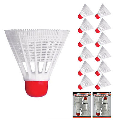 12 pcs Training Exercise Nylon Shuttlecocks Birdies Badminton Ball Game Sport