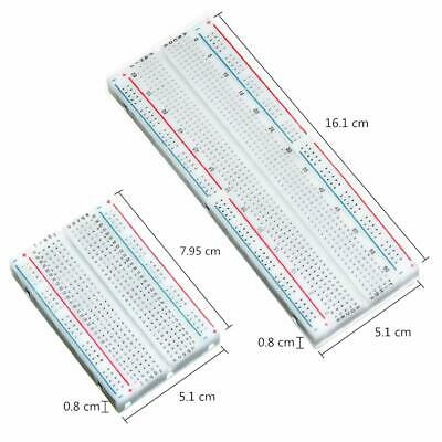 Breadboard Kit 2pcs 400 Tie Point And 2pcs 830 Points Solderless Power Rails