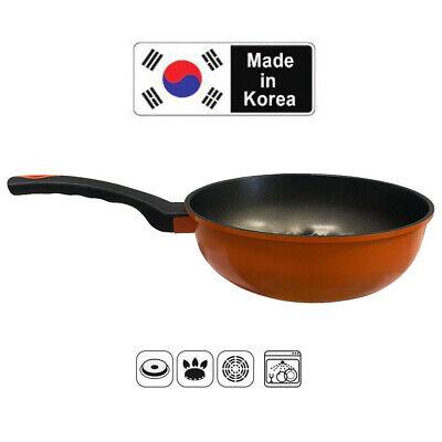 """10""""(26cm) 3D Diamond Coating Nonstick Frying Pan Wok, 3.25"""" Depth -MADE IN KOREA"""