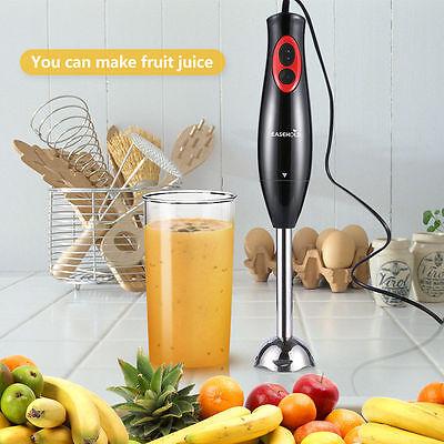 Easehold Hand Blender Food Mixer Processor Handheld 300w Black Whisk 2 Speed UK