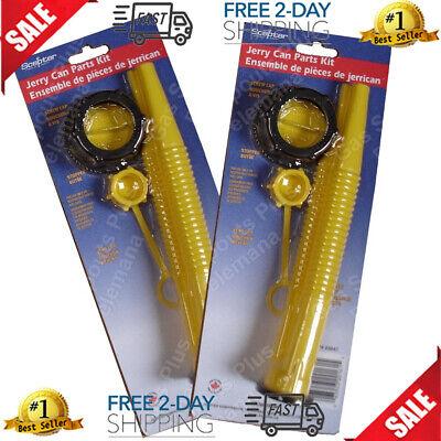 2 Scepter Spout Kits 03647 Gas Can Parts 4 Pcs Spoutsscrew Cap Collarstopper