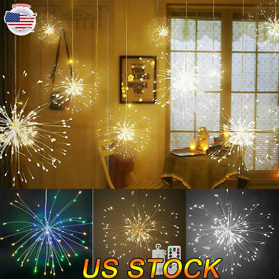 100/150 LED Firework Light Copper Wire Fairy String Lights Christmas Party - Christmas Party Decor