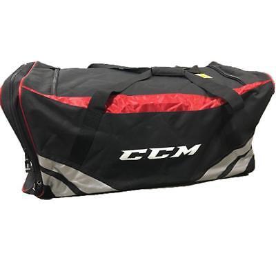 "New CCM senior carry ice hockey player equipment bag 38"" black/red large pockets"