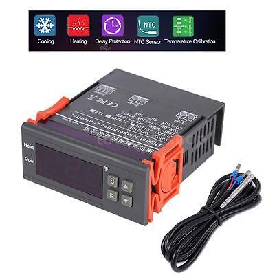 Mini Digital 110v Temp Controller Thermostat -58194 Fahrenheit Sensor 10a Spus