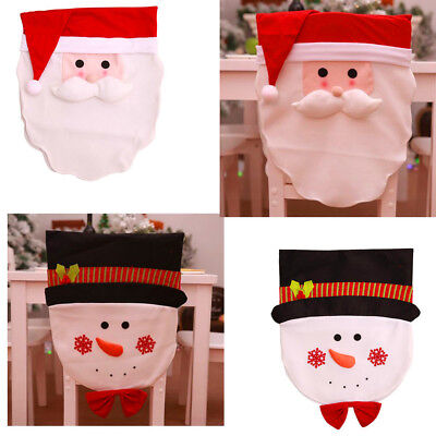 Chair Back Cover For Home Christmas Dinner Table Decor Dining Seat Cover SU (Chair Decorations For Halloween)