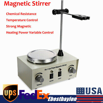 Magnetic Stirrer With Heating Plate 79-1 Hotplate Digital Mixer Stir Bar Lab