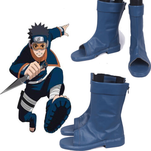 New NARUTO Akatsuki Ninja Tobi Obito Madara Uchiha Obito Cosplay Shoes Boots