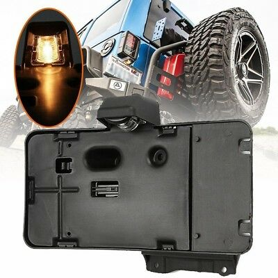 Rear License Plate Mounting Holder Bracket &Light For 2007-2017 Jeep Wrangler JK