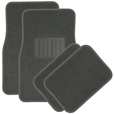 - Car Floor Mats for Auto 4pc Carpet Semi Custom Fit Heavy Duty w/Heel Pad Grey