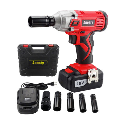"18V Lithium Ion Cordless Impact Wrench Li-ion 1/2"" Drive Rat"
